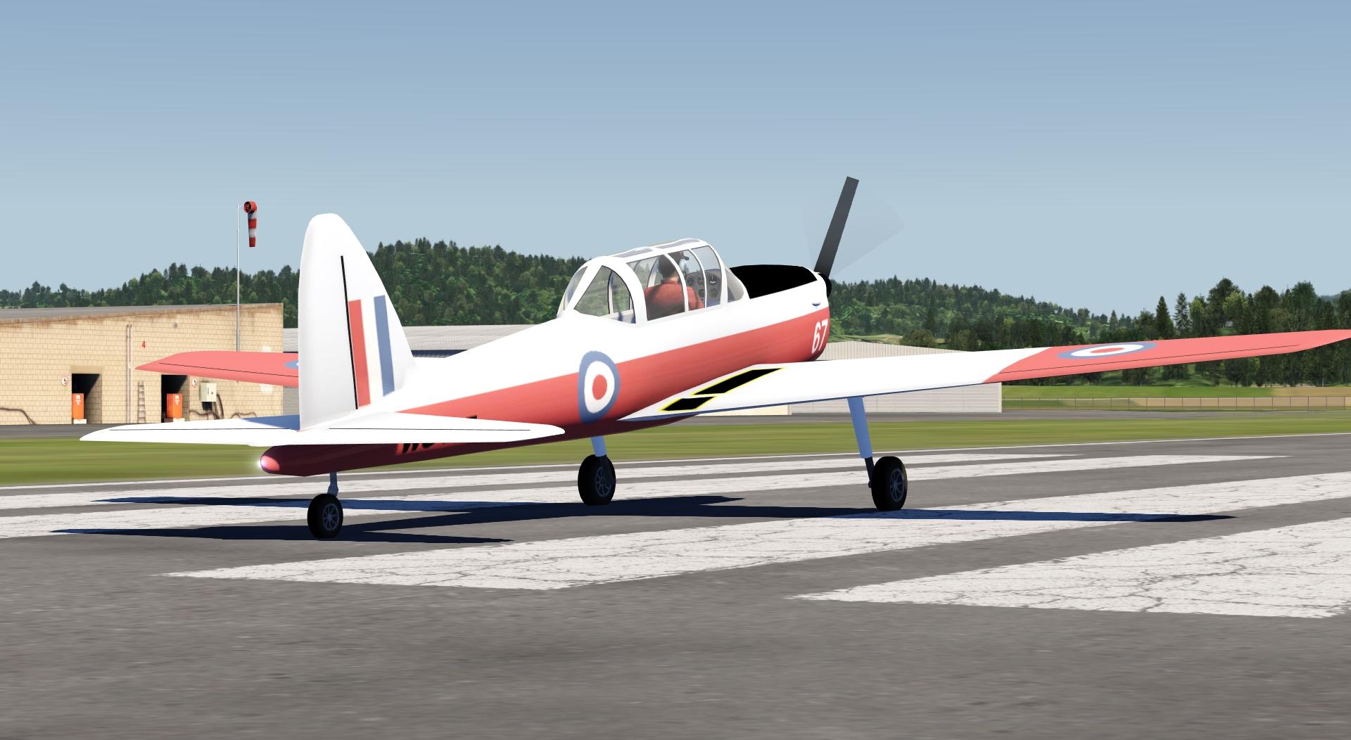 De Havilland DHC-1 Chipmunk – Aerofly FS Addon aircraft – Aerofly-Sim de