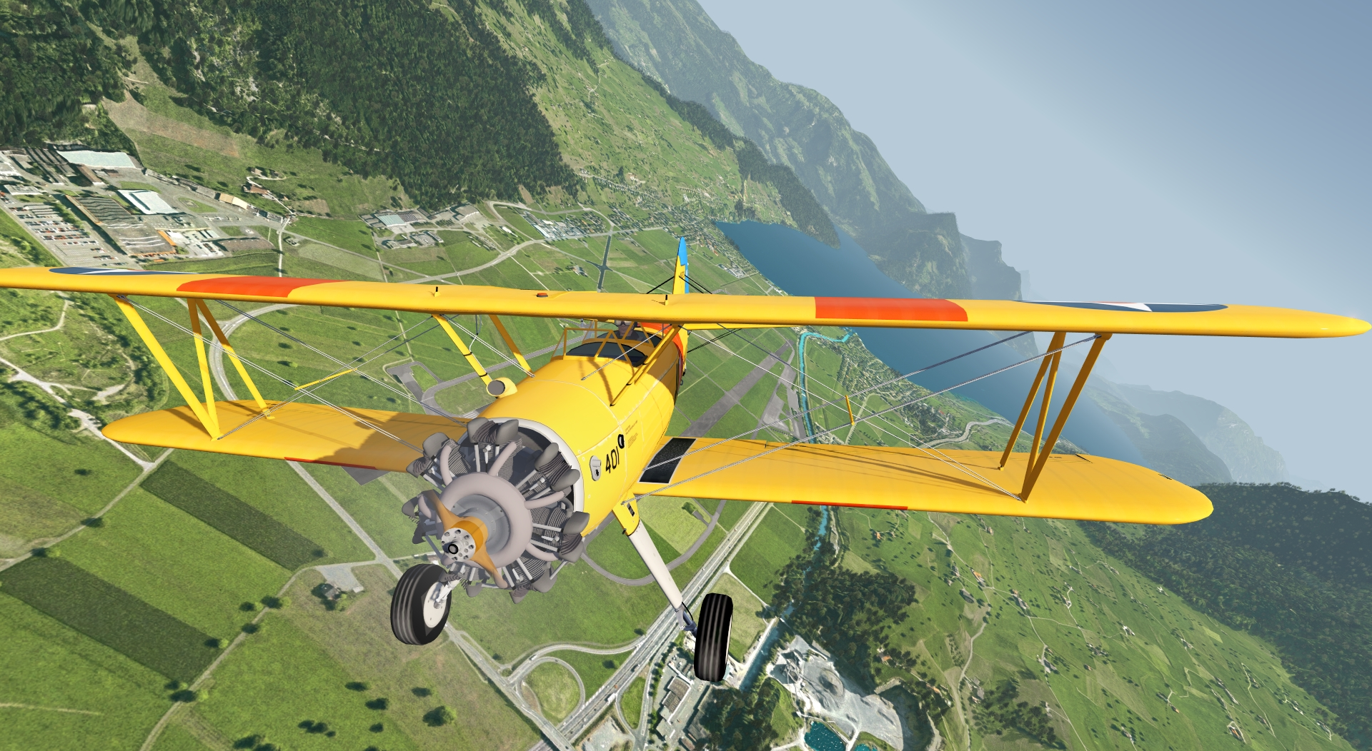 Stearman 75 Kaydet for aerofly FS