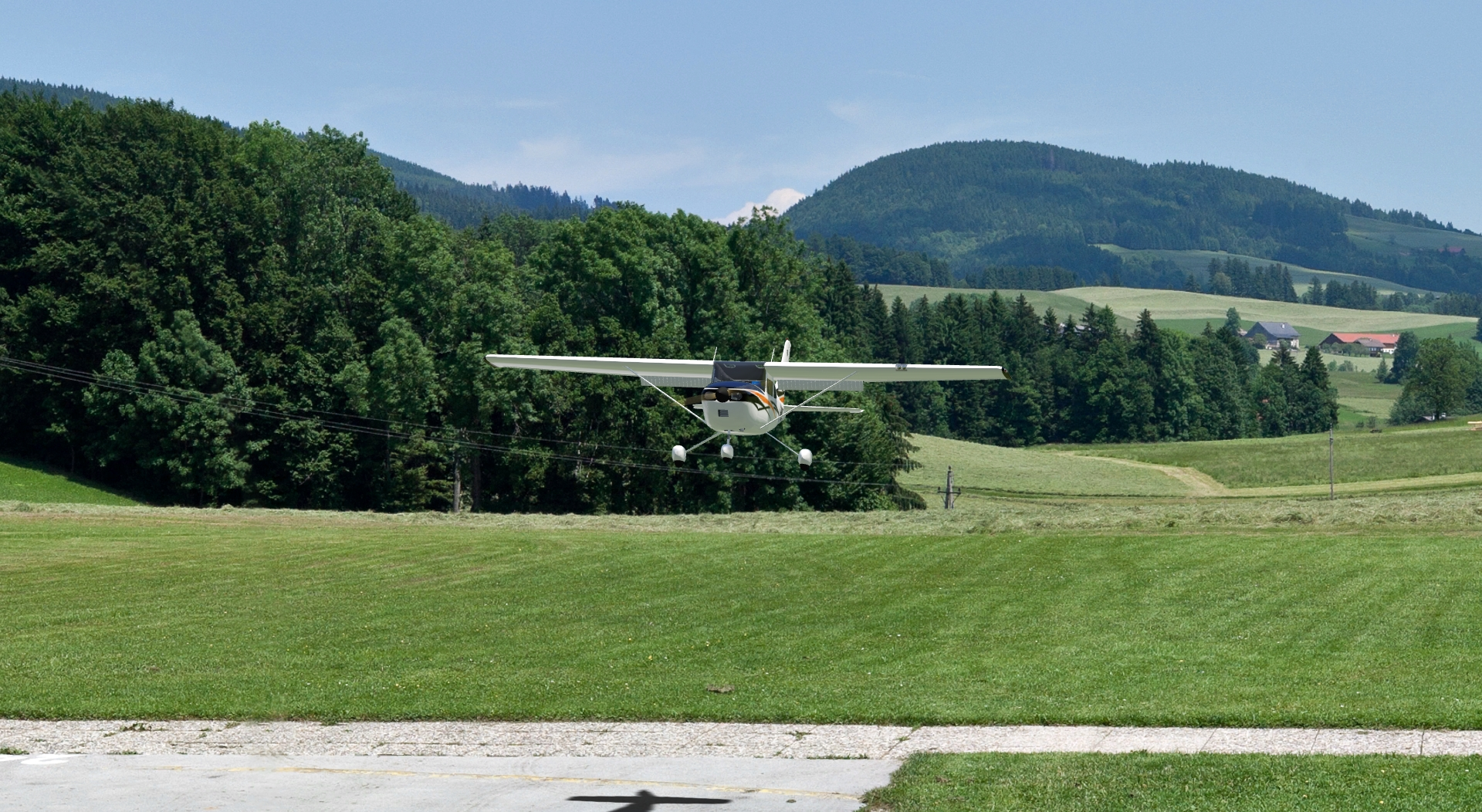 Cessna 182 Skylane in the aerofly RC 7 scenery mfcsalzburg