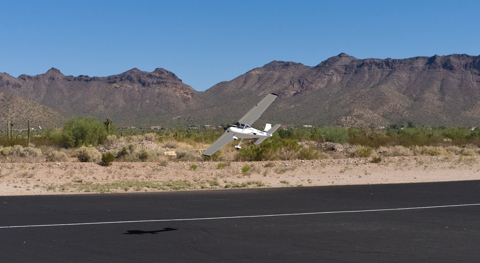 Cessna 182 Skylane in the aerofly RC 7 scenery us-phoenix
