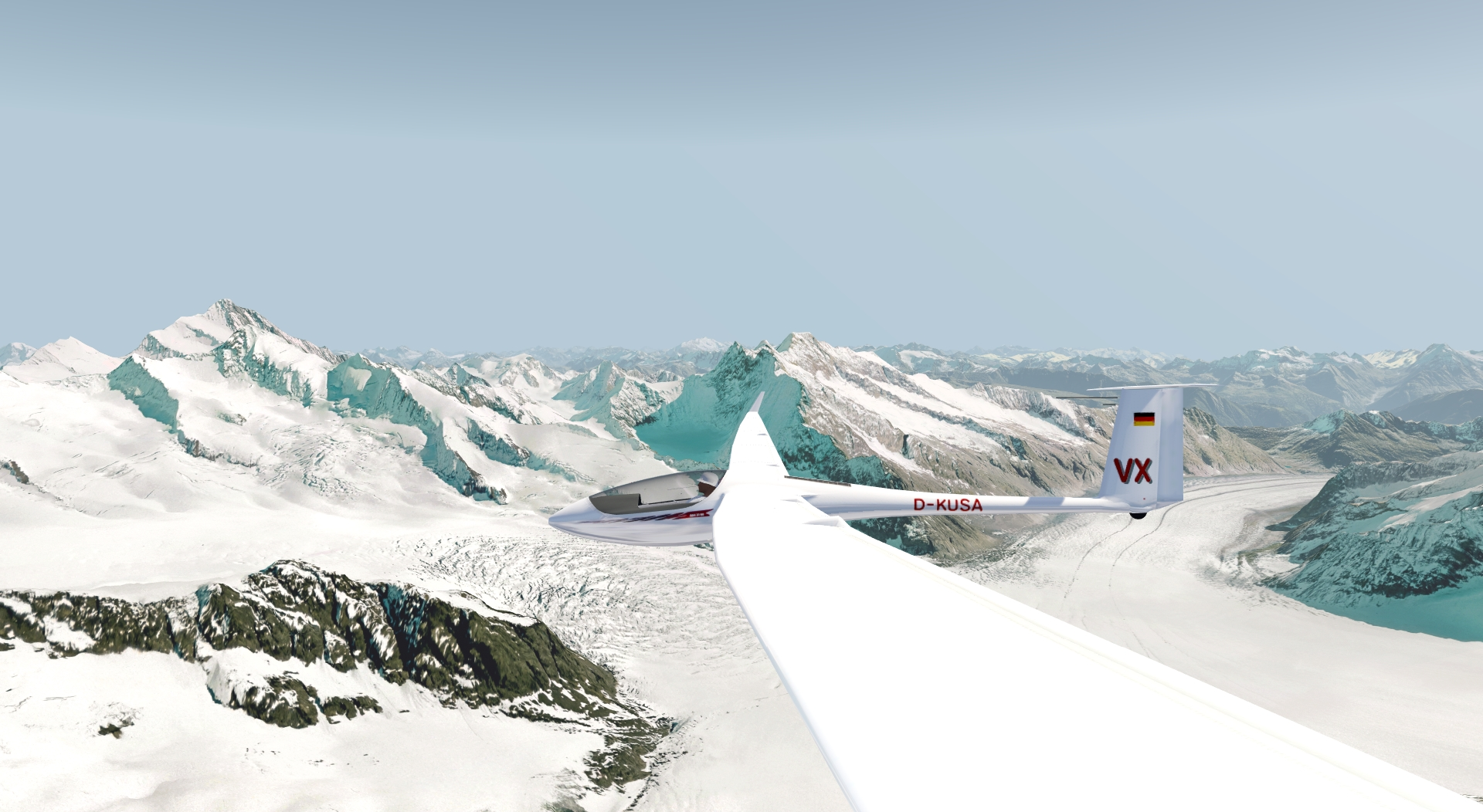 ASH 31 Mi in the AeroflyFS flight simulator
