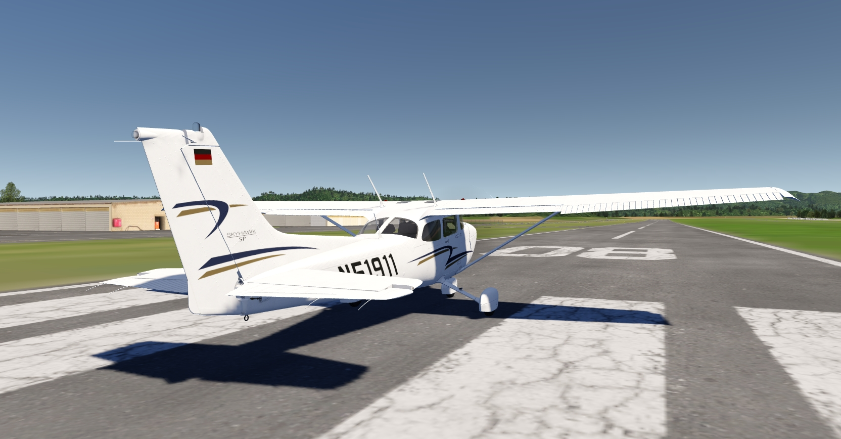 Cessna 172 ready for take off - Original Screenshot